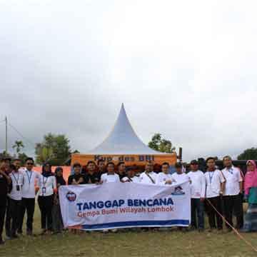 Tanggap Bencana Lombok oleh YBM BRI