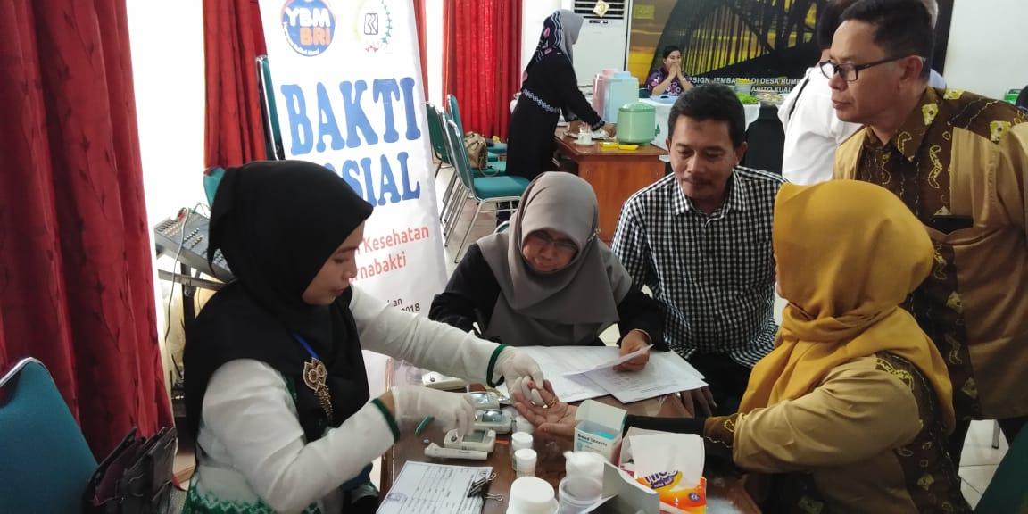 Layanan Kesehatan YBM BRI di HUT PP BRI-49 Banjarmasin