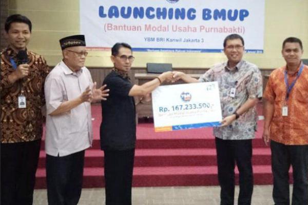 YBM BRI Kanwil Jakarta 3 Launching Bantuan Modal Usaha Purnabakti