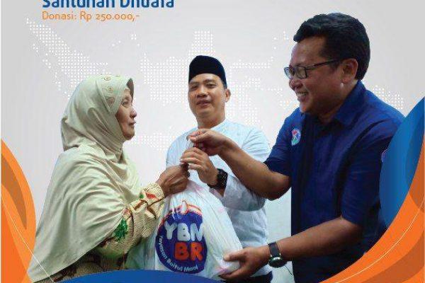 Tebar Kebahagiaan dengan Santunan Dhuafa Ramadhan Merakyat