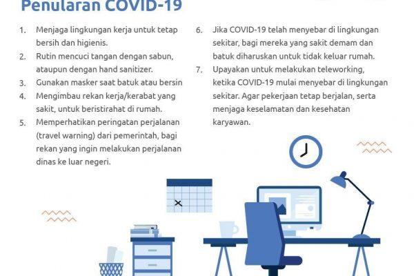 Yuk Jaga Lingkungan Kerjamu dari Risiko Penularan Virus COVID-19