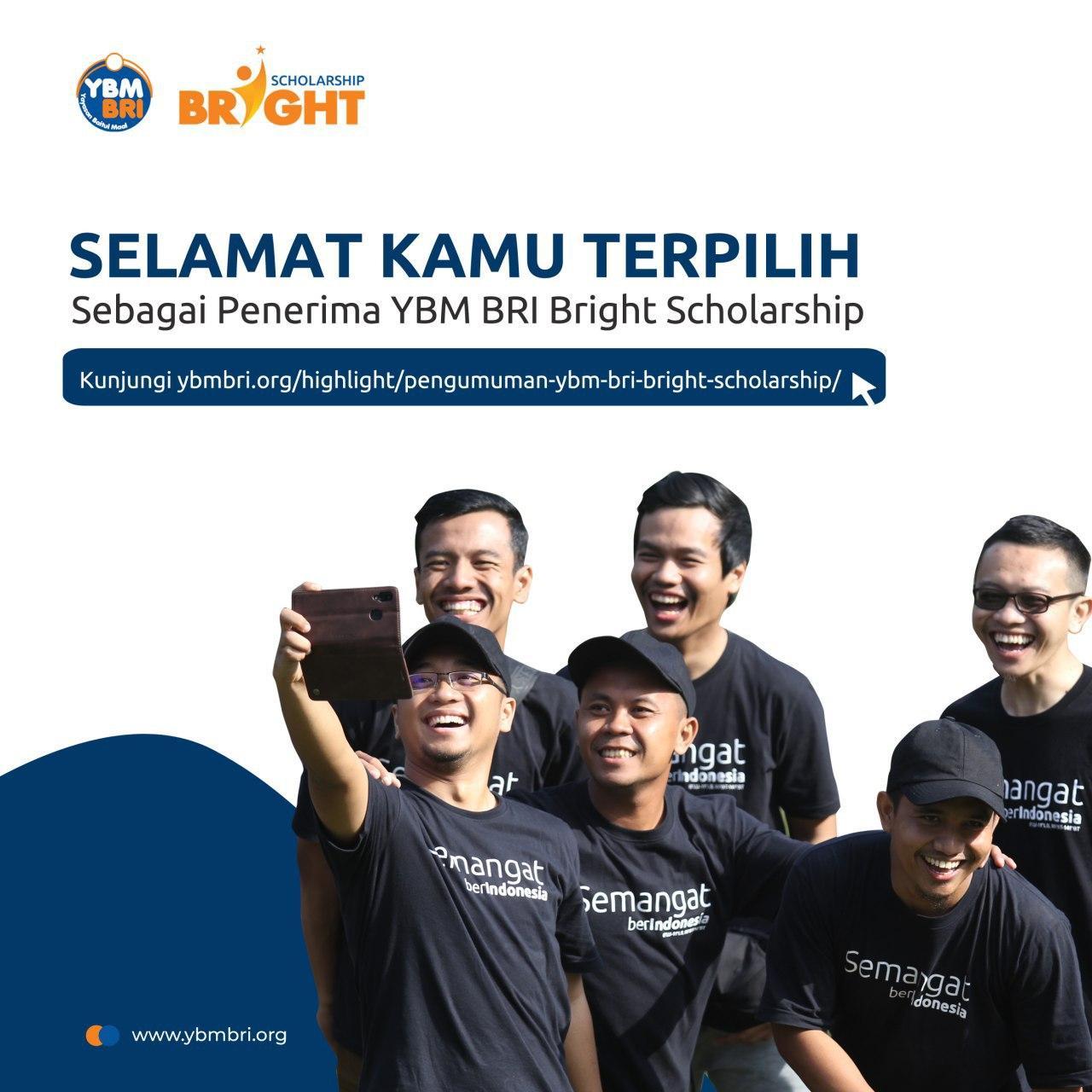 Pengumuman Hasil Akhir YBM BRI Bright Scholarship